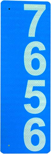 """(Custom 911 Reflective Address Sign - Very Highly Visible in The Daytime and Nighttime. Excellent for Emergency Response, Delivery Service, Double-Sided, 6""""x18"""" .04"""" Aluminum High Intensity (Hip))"""