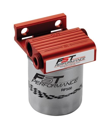 FST Performance RPM300 FloMax 300 Red Anodized 1/2'' NPT Port Fuel Filter/Water Separator System