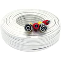 GW Security 100 Feet Pre-made Siamese BNC Video and Power Cable Ready To Go for Security Camera CCTV Systems