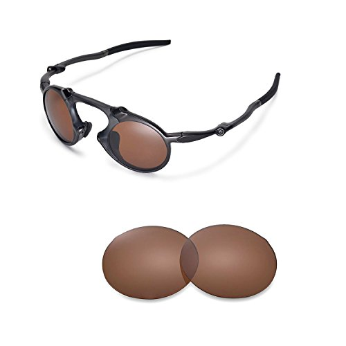 69b7b62acf4 Galleon - Walleva Replacement Lenses Oakley Madman Sunglasses - Multiple  Options Available (Brown - Polarized)