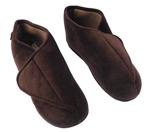 Dr Keller - Zapatillas de estar por casa de Tela para hombre Negro negro 40 41 42 43 44 45 46 EU marrón
