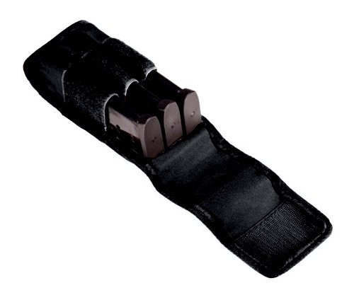 Tuff Products 3 in-Line Magazine Pouch, Black, Size 1