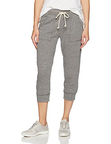 Alternative Women's Eco Cropped Jogger, Eco Grey, (Cropped Womens Sweatpants)