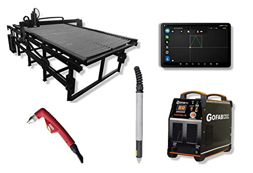 Go Fab CNC 4' x 8' Plasma Table w/PowerEdge 80 (80 Amp) Plasma Cutter - Pierce/Cut 1