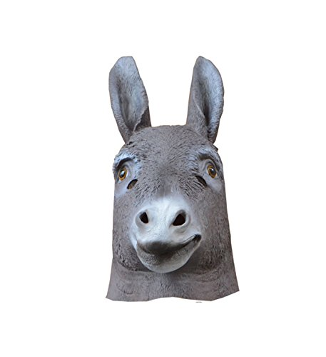 micrkrowen Halloween Latex Animal Simulation Donkey Head