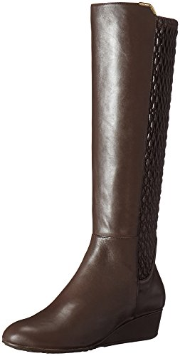 Cole Haan Women's Tali Grand Stretch Riding Boot, Chestnut, 9 B US