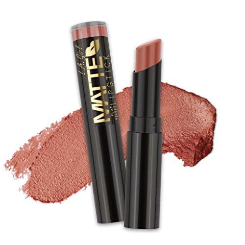 Mica Lipstick Matte - (3 Pack) L.A. GIRL Matte Flat Velvet Lipstick - Snuggle