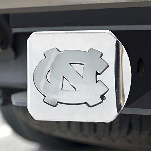 FANMATS  15052  NCAA UNC University of North Carolina - Chapel Hill Tar Heels Chrome Hitch Cover ()