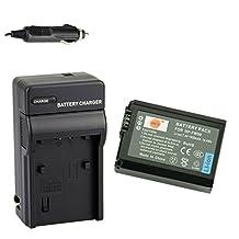 DSTE® NP-FW50 Battery + DC107 Travel and Car Charger Adapter for Sony Alpha 7 7R 7R II 7S a7R a7S a7R II a5000 a5100 a6000 a6500 NEX-7 SLT-A37 DSC-RX10 Digital Camera