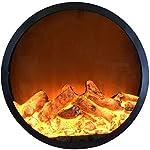 NSYNSY Camino Elettrico Camino Elettrico a Parete Stufa a infrarossi Riscaldamento realistici Effetti di Fiamma 3D… 41zACFPorpL. SS150