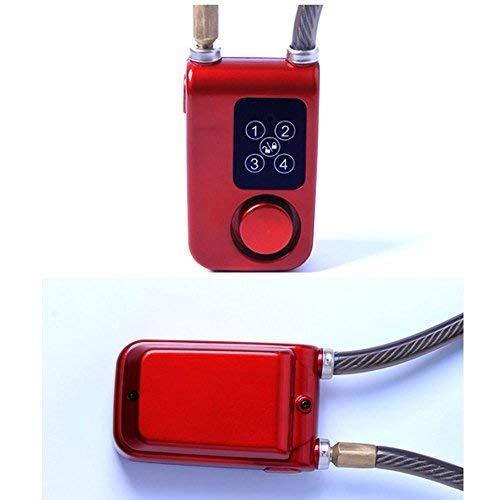 CQJDG 105DB Cadena con alarma antirrobo, bloqueo digital con ...