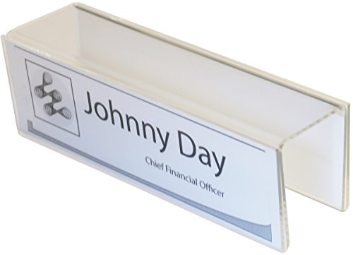 Double-Sided Cubicle Name Plate Holders - 8-1/2