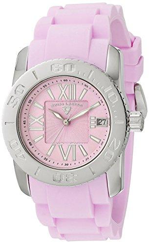 Swiss Legend Women's 10114-015 Commander Pink Polyurethane and Stainless Steel Watch ()