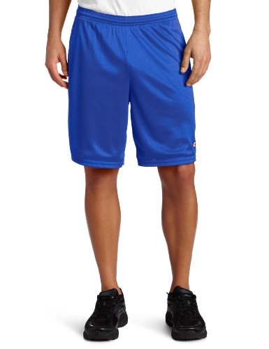 Champion Womens Sport Short - Champion Men's Long Mesh Short With Pockets, Team Blue, Large