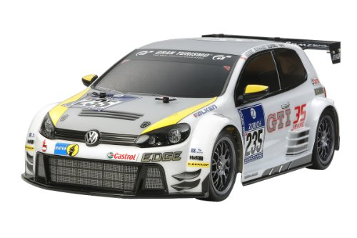 Volkswagen Golf Electric Rc Assembly Kit 24 1/10 (Tt-01 Chassis Type-e) ()