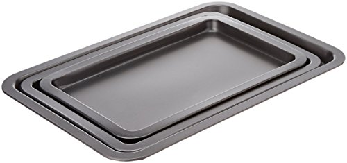 AmazonBasics 3-Piece Nonstick Baking Sheet Set by AmazonBasics (Image #4)