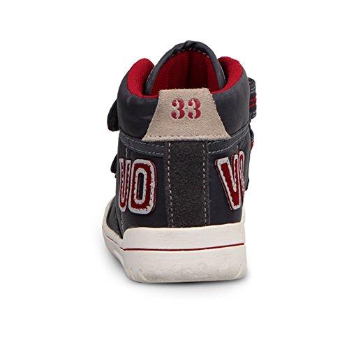 Boys And Girls High Top Sneakers Velcro Strap Winter Warm Athletic Sneaker (Little Kid/Big Kid/) by Zarbrina Kids (Image #4)