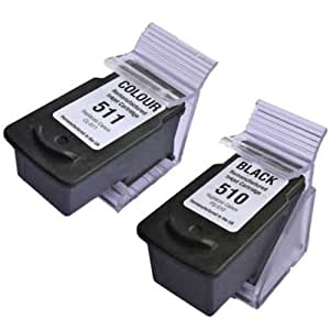 Prestige Cartridge 2 XL Compatibles PG-510 & CL-511 Cartuchos de ...