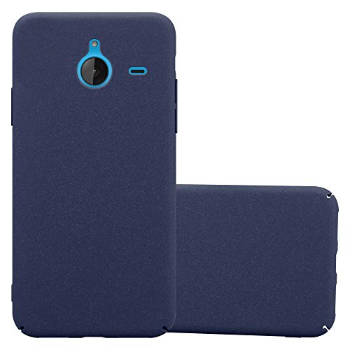 Cadorabo Case Works with Nokia Lumia 640 XL in Frosty Blue - Shockproof and Scratch Resistent Plastic Hard Cover - Ultra Slim Protective Shell Bumper Back Skin