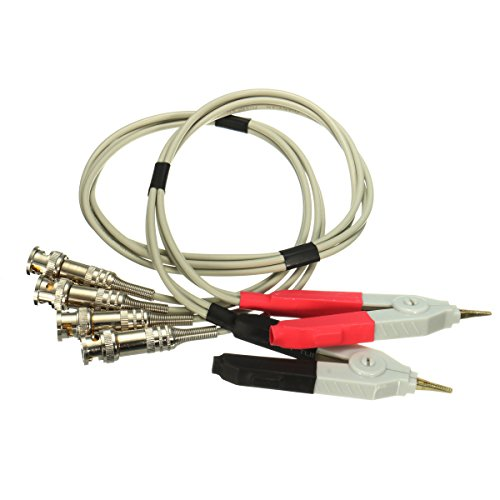 - LCR Meter Test Leads /Clip Cable/Terminal Kelvin Probe Wires with 4 BNC