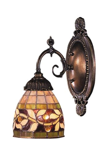 Elk 071-Tb-13 Floral Vine Mix-N-Match 1-Light Sconce, 10-Inch, Tiffany Bronze