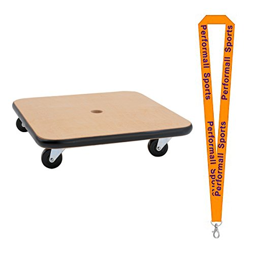 """Champion Sports 16"""" Wood Scooter Wood Brown Bundle with 1 Performall Lanyard SCWB16-1P"""