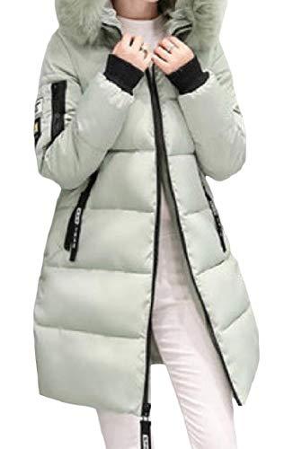 Loose Mogogo Printed Outwear Mid Hooded Womens Thick Pattern2 Long Zip Velvet Down Twxg4wq