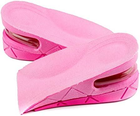 ROSENICE Höhe Einlegesohle Einstellbare Unisex unsichtbar Schuh Pads 2 Schichten (Rosa)