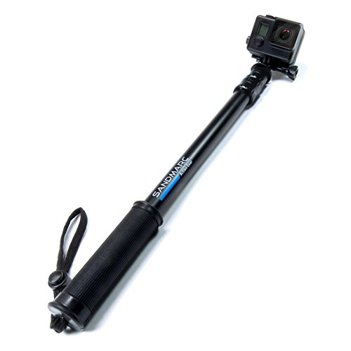 sandmarc pole black edition 17 40 waterproof telescoping extension pole selfie stick for. Black Bedroom Furniture Sets. Home Design Ideas