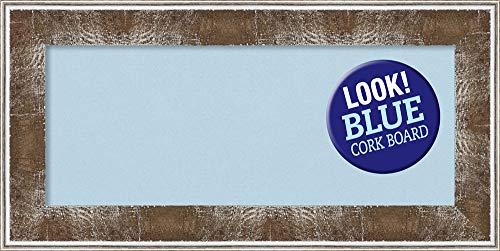 Amanti Art Blue Cork Farmhouse Brown Framed Bulletin Boards, 36 x 18, by Amanti Art (Image #4)