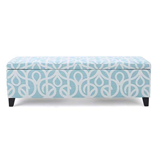 Christopher Knight Home 299859 Living Clor Azure Fabric Storage Ottoman,