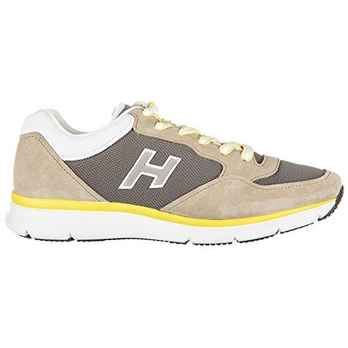 Flock Hogan en Baskets Homme h Sneakers h254 T2015 Daim Beige Chaussures qrw8PIn1r