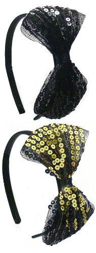 Dozen Pack Bling Bling Sequence Headbands U86175-0852GS-D (Sequence Pack)