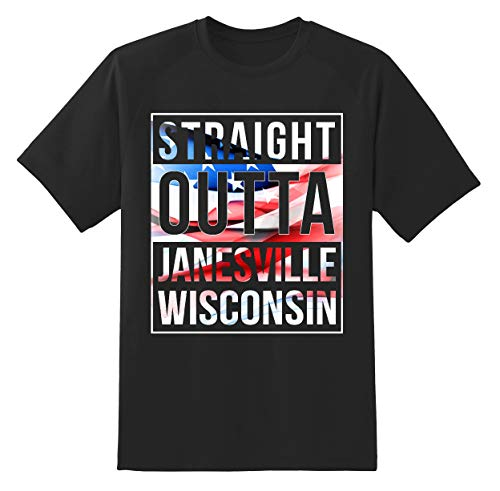 4th of July America Flag Idependence Day 2019 - City State Born in Pride Janesville Wisconsin WI Unisex Shirt Black