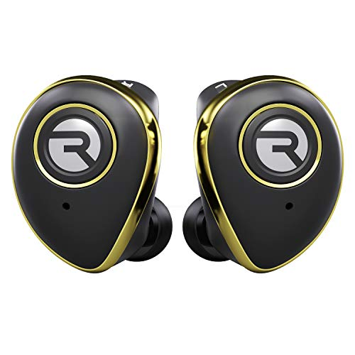 Raycon E50 Wireless Earbuds Bluetooth Headphones - Bluetooth 5.0 Bluetooth Earbuds Stereo Sound in-Ear Bluetooth Headset True Wireless Earbuds 25 Hours Playtime with Charging Case Built-in Mic Gold