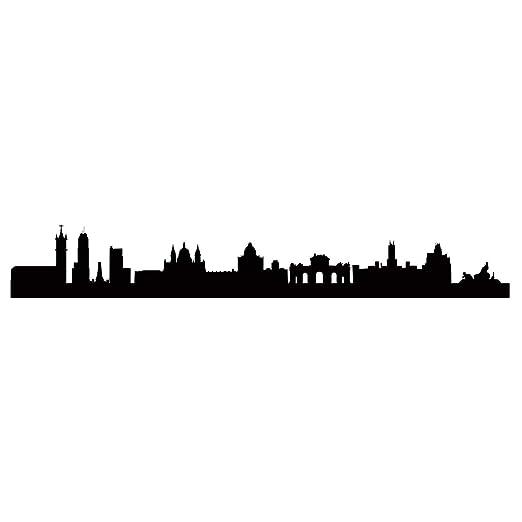 WandTattoo Skyline Madrid L – 140 cm x 21 cm – duvar Tattoo – 23 ...