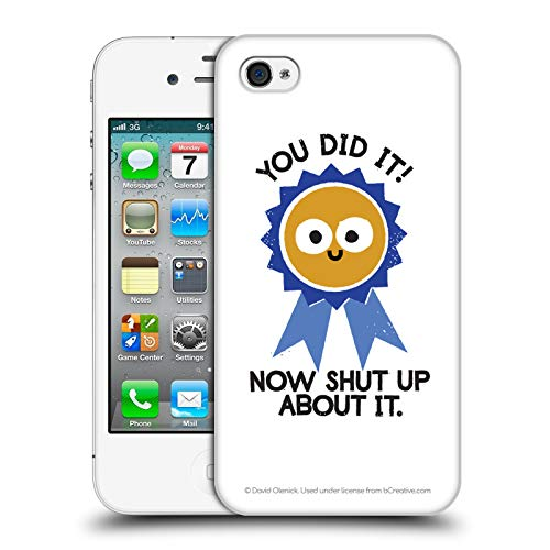 - Official David Olenick Boast Likely to Suceed Medal Objects Hard Back Case for iPhone 4 / iPhone 4S