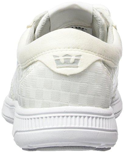 Supra Hammer Run Unisex-Erwachsene Low-Top Weiß (WHITE - WHITE WHT)