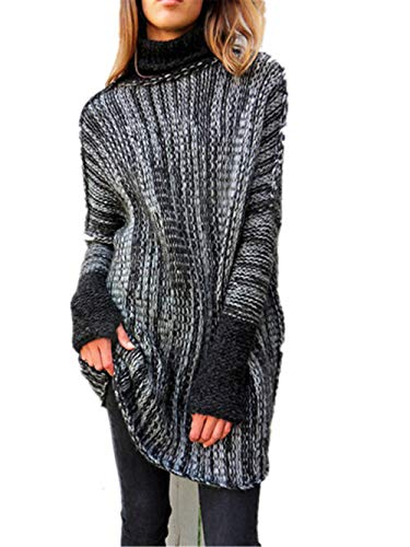 set adil Women's Fashion Oversized Knitted Crewneck Casual Pullovers Sweater – DiZiSports Store