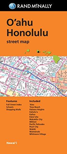 Folded Map: O'ahu, Honolulu (Rand McNally Streets - Hawaii Honolulu Outlets