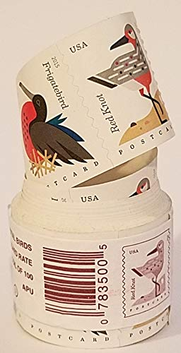 USPS Coastal Birds Postcard Stamps Roll of 100