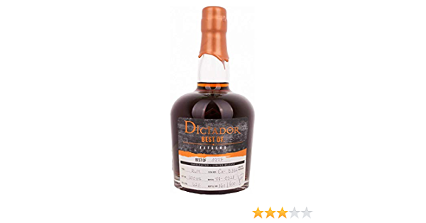 Dictador Best of 1977 Extremo Limited Release Rum - 700 ml ...