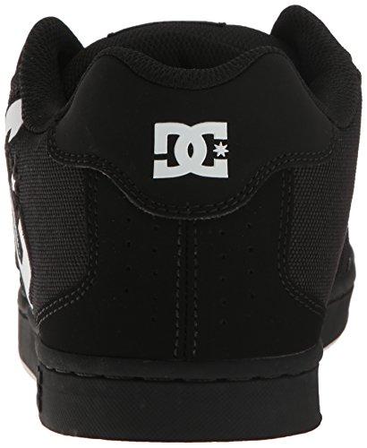 Dc Mens Net Se-k Skateboarden Schoen, Zwart / Wit / Zwart, 7 D Ons