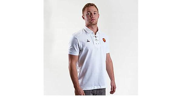 Le Coq Sportif - Polo de Rugby XV de Francia Blanco L: Amazon.es ...