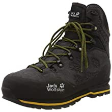 Jack Wolfskin Wilderness Texapore Mid M Wasserdicht, Zapatos de High Rise Senderismo para Hombre, Negro (Phantom/Burly Yellow XT 6357), 45 EU