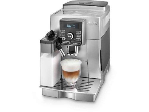 DeLonghi ECAM25462B Super Fully Automatic Espresso Machine with Cappuccino and Latte Crema System (Silver)