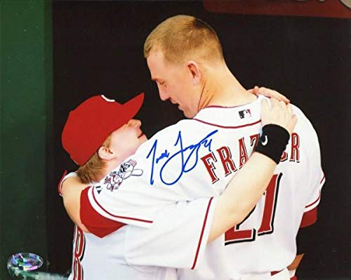 Signed Todd Frazier Photograph - Hugging Teddy 8x10 - Autographed MLB Photos