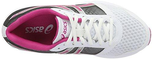 Ginnastica da 8 White Bianco Scarpe Pink Donna Silver Patriot Sport Asics wq71ZxIx