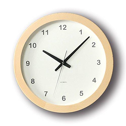 KATOMOKU muku round clock ナチュラル スイープ(連続秒針) km-32N B00WS0SIOA