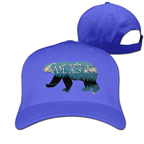 Unisex Alaska Bear Home In Spector Adjustable RoyalBlue Strapback Baseball Hat